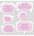 Pink text frames vector