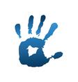Blue handful vector