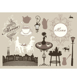 Cafes and restaurants vector