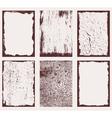 Grunge frames textures 2 vector
