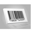 3d barcode white box vector