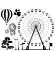 Elements of amusement park vector