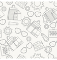 Summer accessories background sketch vector