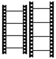 Blank simple film strip set vector