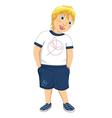 Blonde boy vector