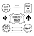 Set of decorative frames borders and dividers vector