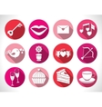 Set valentines day buttons signs vector