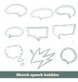 Sketch speech bubbles set eps10 vector