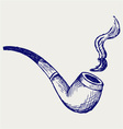 Tobacco pipe vector