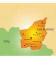 San marino map vector