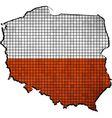 Poland map with flag inside vector