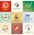 Food and drinks icons set background templates vector