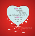 Be my valentine with heart vector