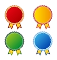 Set of color empty badges vector