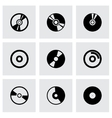 Cd icon set vector