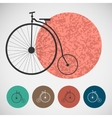 Set of bicycle on colored backgrounds vector