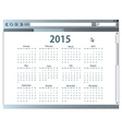Internet browser with 2015 calendar vector