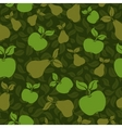 Apple pear seamless background vector