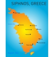 Siphnos greece vector