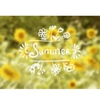 Sunflowers background on a summer day vector