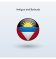 Antigua and barbuda round flag vector