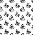 Seamless wallpaper with silhouettes of flowers vector