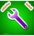 Wrench key icon sign symbol chic colored sticky vector