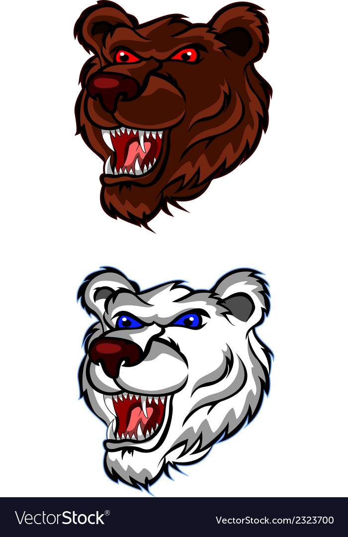 Angry bear head for you design vector | Price: 1 Credit (USD $1)
