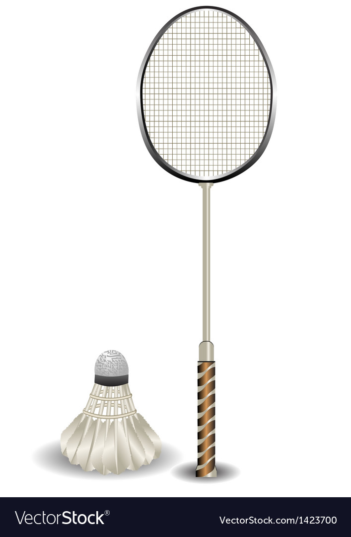 Badminton racket and shuttlecock vector | Price: 1 Credit (USD $1)