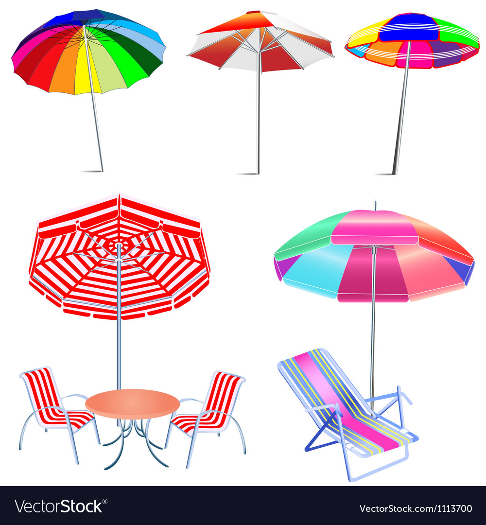 Beach umbrellas vector | Price: 1 Credit (USD $1)