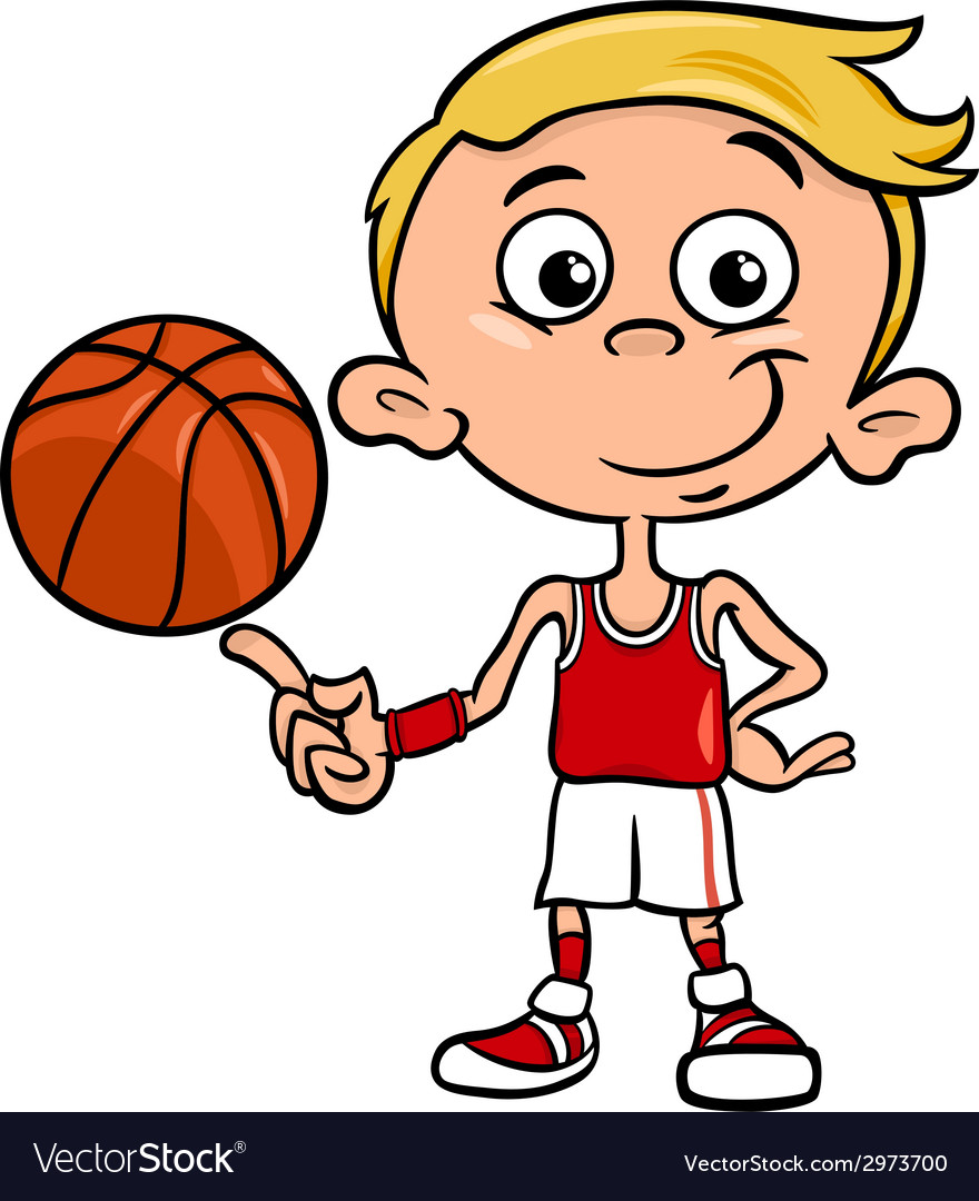 Boy basketball player cartoon vector | Price: 1 Credit (USD $1)