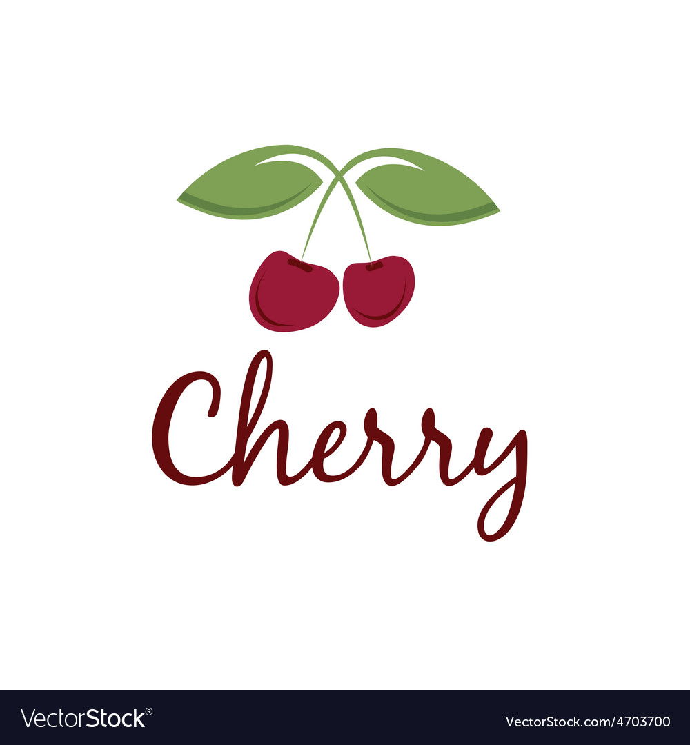 Cherry design template vector | Price: 1 Credit (USD $1)