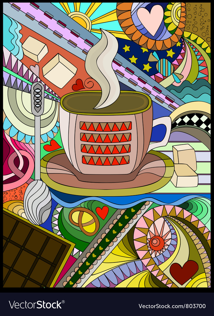 Evening tea vector | Price: 1 Credit (USD $1)