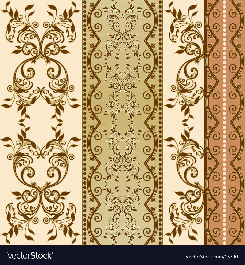 Floral decorative wallpaper vector | Price: 1 Credit (USD $1)
