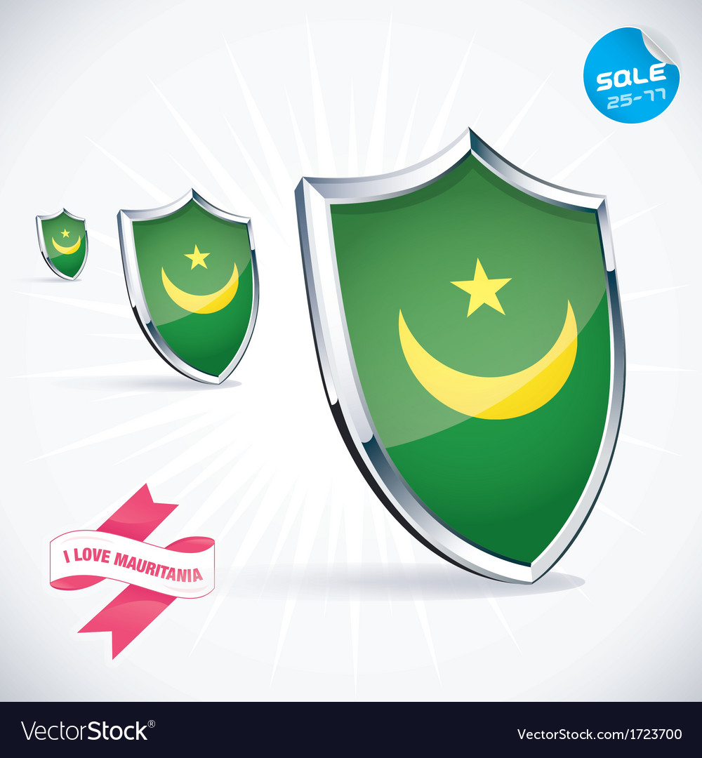 I love mauritania flag vector | Price: 1 Credit (USD $1)