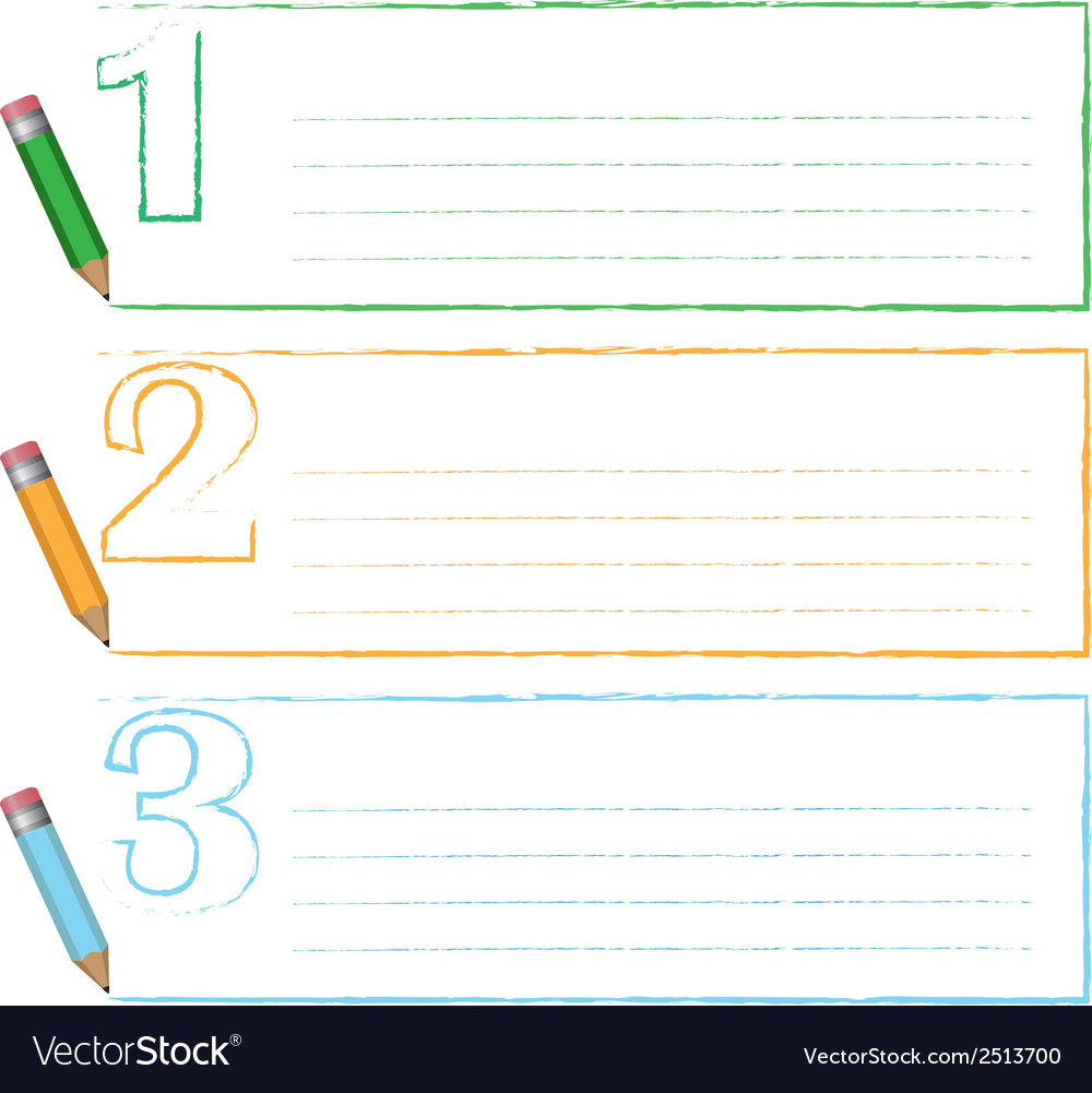 Pencil and frame vector | Price: 1 Credit (USD $1)