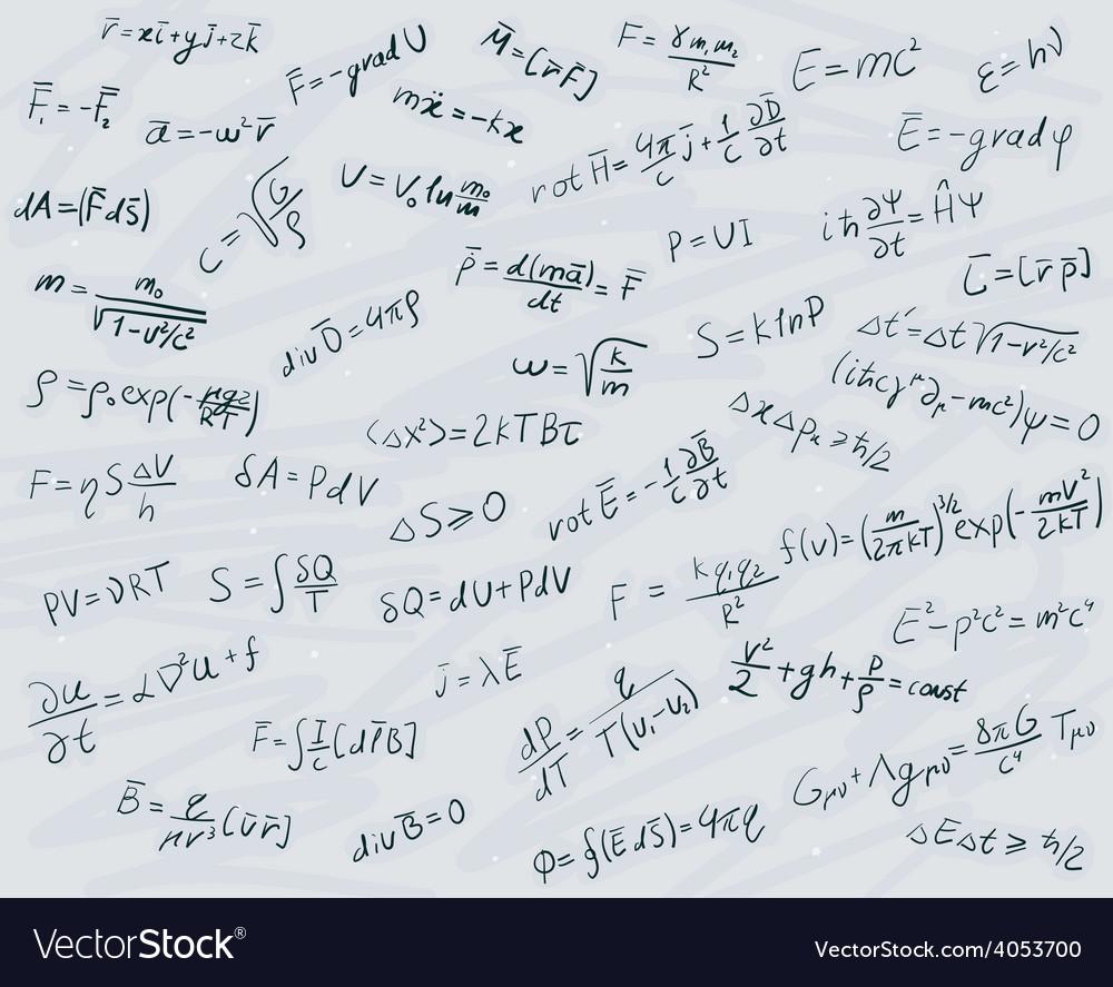 Physical formulas vector | Price: 1 Credit (USD $1)