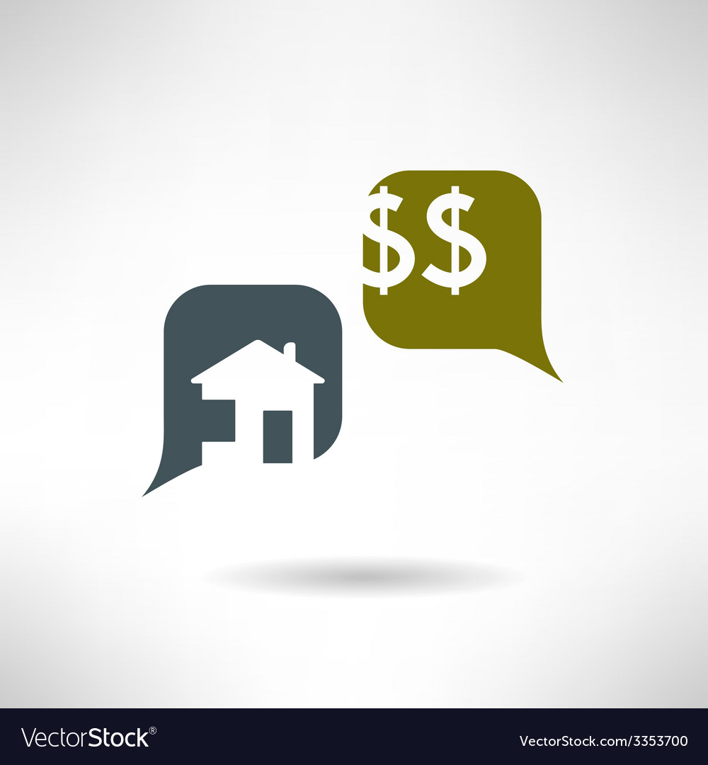 Property selling dialog in modern flat design real vector   Price: 1 Credit (USD $1)