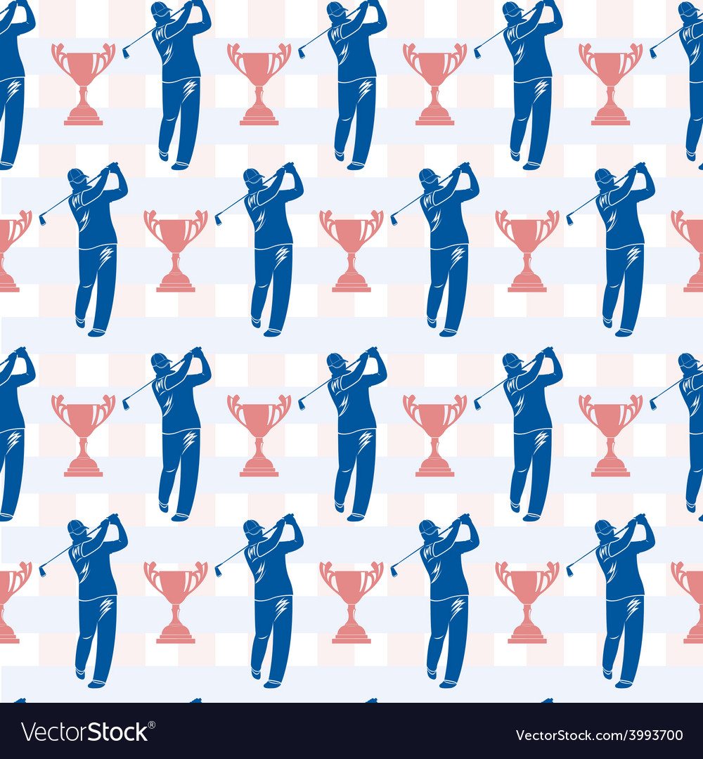 Seamless pattern to topic golf and sports vector | Price: 1 Credit (USD $1)