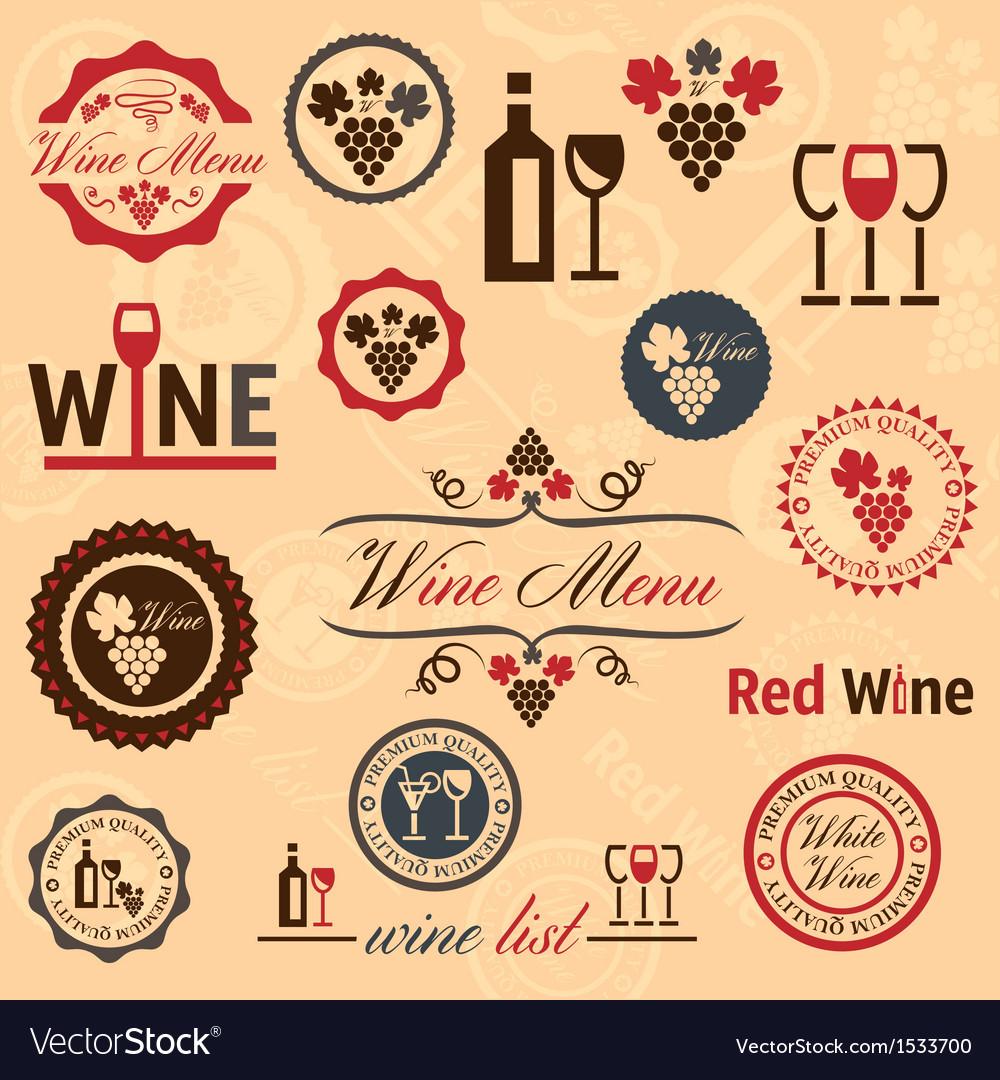 Wine labels set vector | Price: 3 Credit (USD $3)