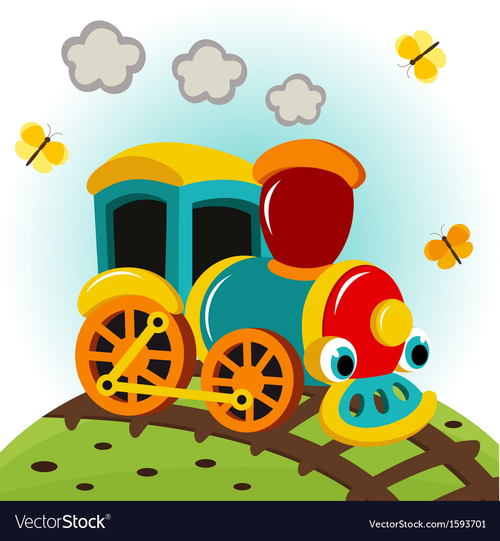 Animated train vector | Price: 1 Credit (USD $1)