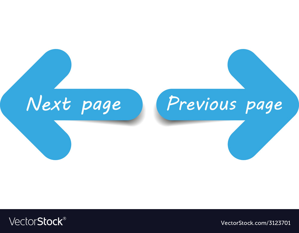 Arrows next and previous page vector | Price: 1 Credit (USD $1)
