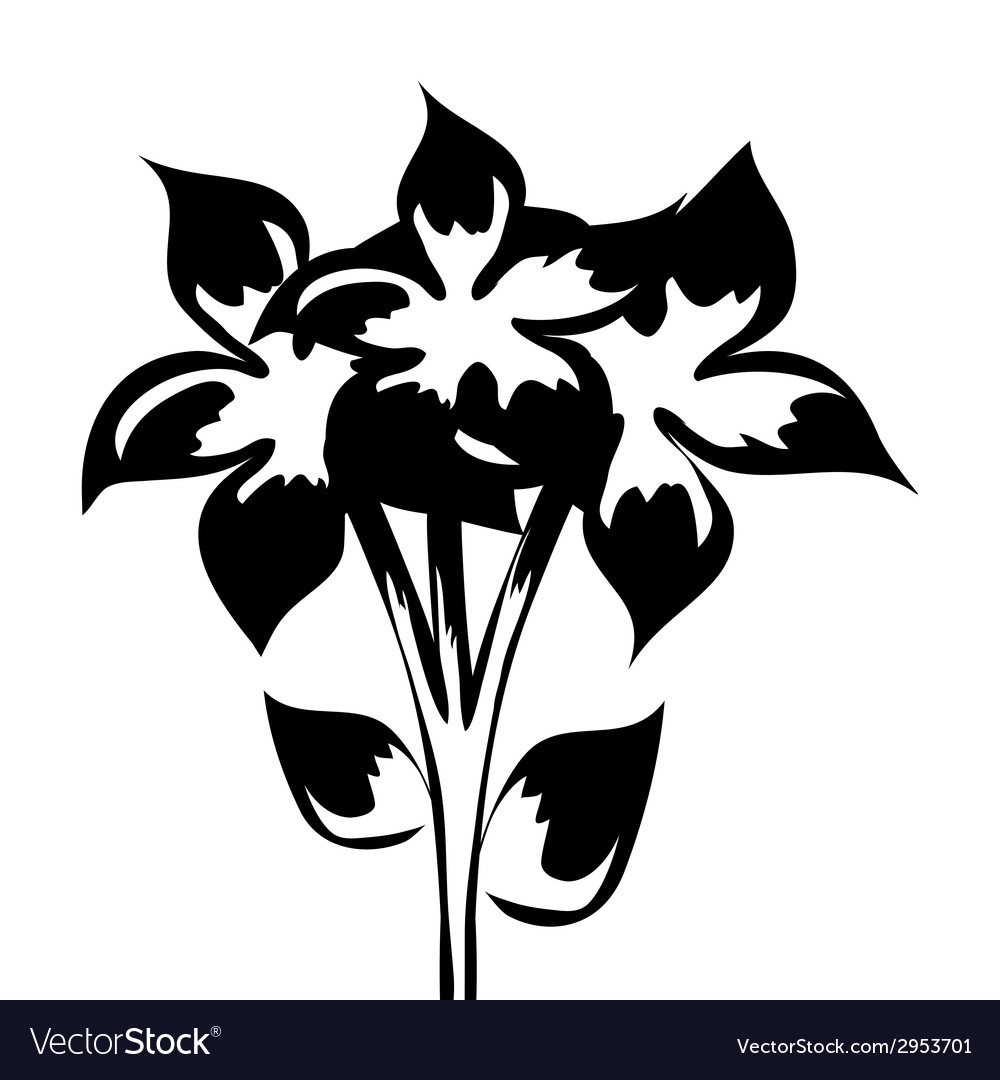 Bouquet of flowers for design element vector | Price: 1 Credit (USD $1)