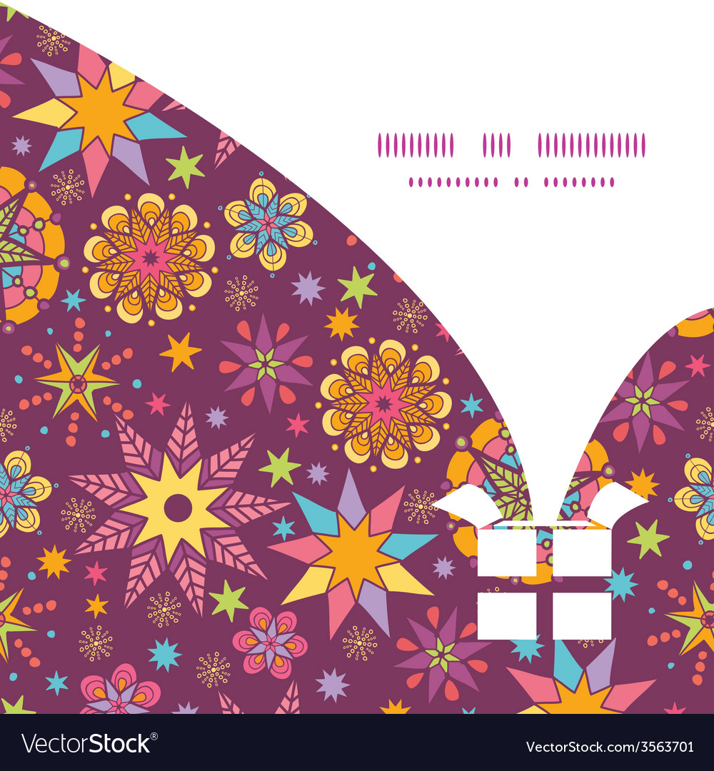Colorful stars christmas gift box silhouette vector | Price: 1 Credit (USD $1)