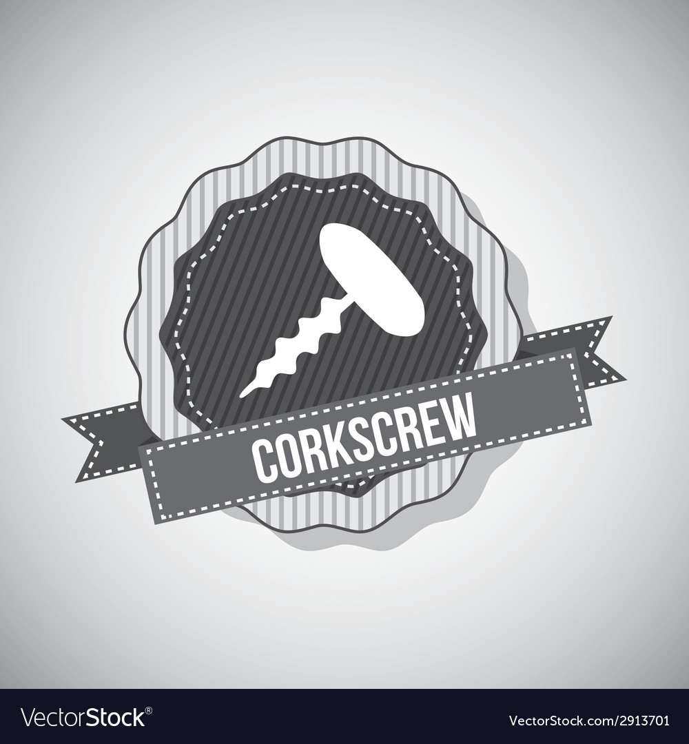 Corkscrew design vector | Price: 1 Credit (USD $1)