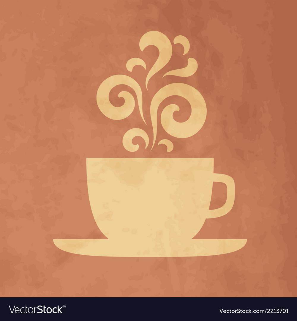 Cup with floral vintage design elements vector | Price: 1 Credit (USD $1)