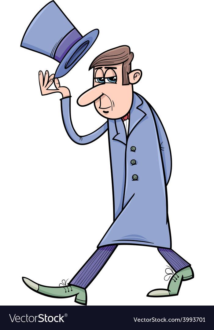 Distinguished man cartoon vector | Price: 1 Credit (USD $1)