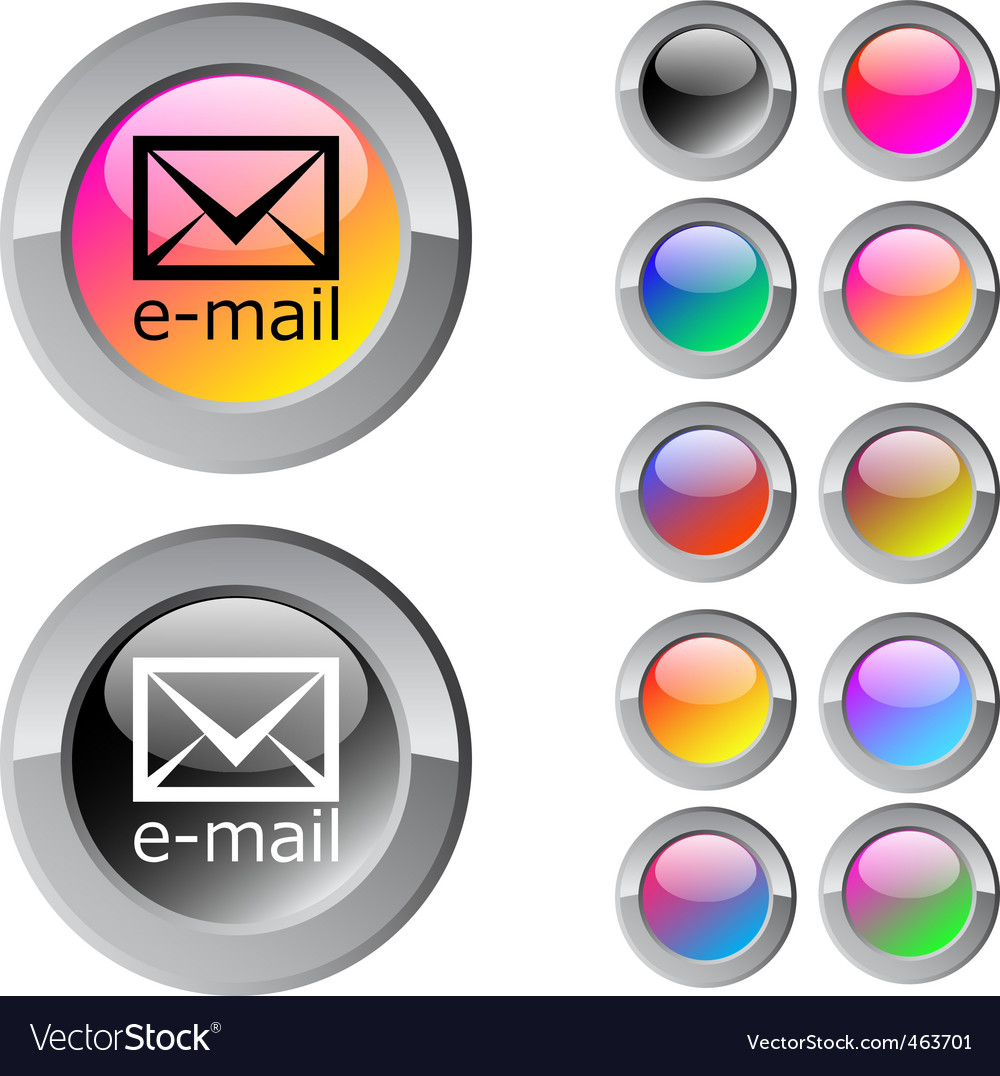 Email multicolor round button vector | Price: 1 Credit (USD $1)