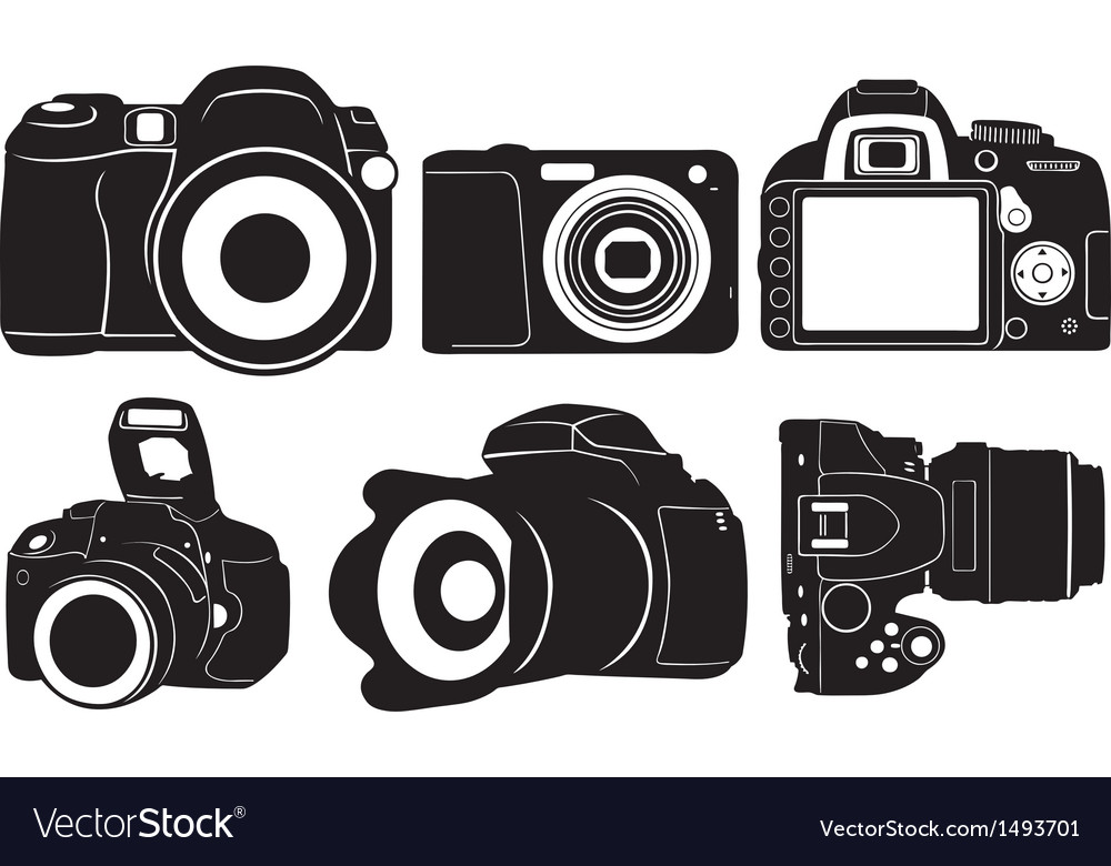 Foto cameras vector | Price: 1 Credit (USD $1)