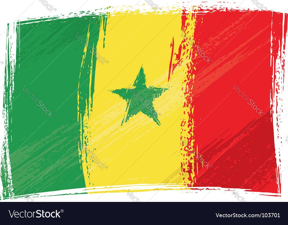 Grunge senegal flag vector | Price: 1 Credit (USD $1)